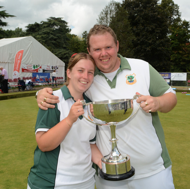 The lovely Amy Stanton with her partner Andy Walters from Worcestershire winners of the Mixed Pairs