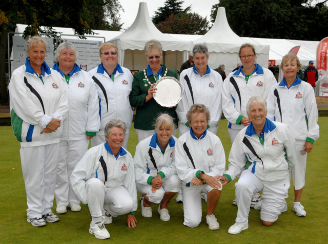 The team from Devon with their County President